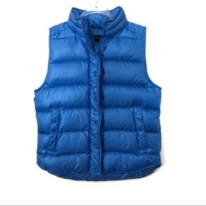 J. Crew Down Feather Blue Puffer Vest Size S